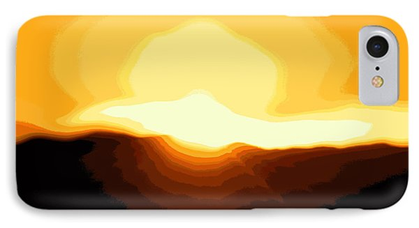 Surreal Mountain Sunset IPhone Case by Clarice  Lakota
