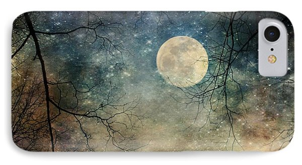Surreal Night Sky Moon And Stars IPhone Case