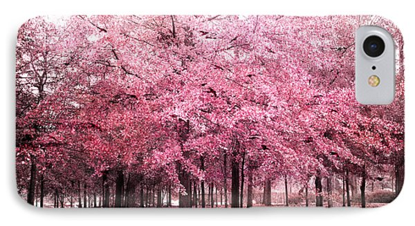 Surreal Pink Tree Landscape - South Carolina Pink Nature Landscape IPhone Case by Kathy Fornal