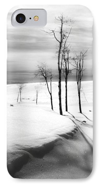 Surreal Snowscape 2 Phone Case by Theresa Tahara