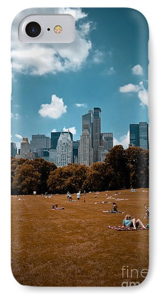 Surreal Summer Day In Central Park Phone Case by Amy Cicconi