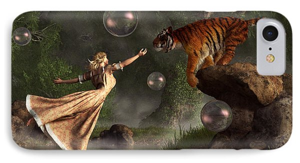 Surreal Tiger Bubble Waterdancer Dream IPhone Case