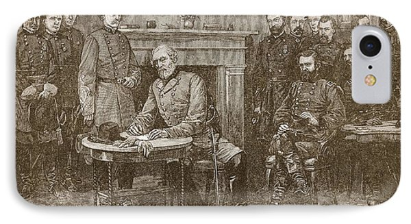 Surrender Of General Lee IPhone Case by Alfred R Waud
