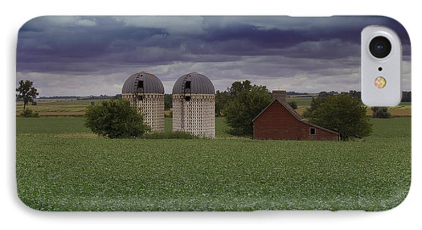 Surrounded By Fields IPhone Case by Rebecca Davis