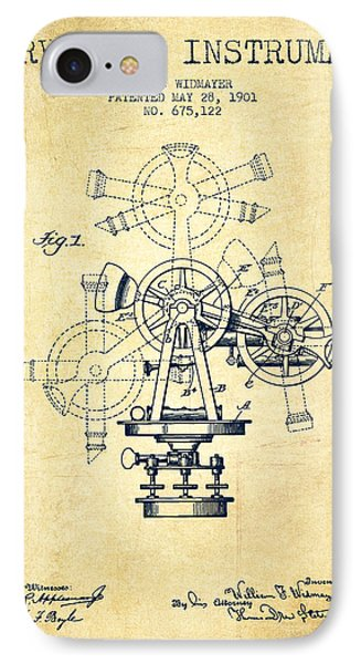 Surveying Instrument Patent From 1901 - Vintage IPhone Case by Aged Pixel