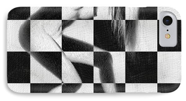 Survive Nude Woman Checkered 4 IPhone Case