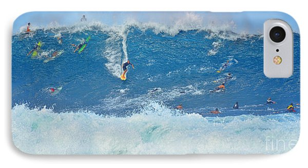 Surviving The Banzai Pipeline IPhone Case by Aloha Art
