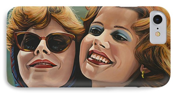Susan Sarandon And Geena Davies Alias Thelma And Louise Phone Case by Paul Meijering