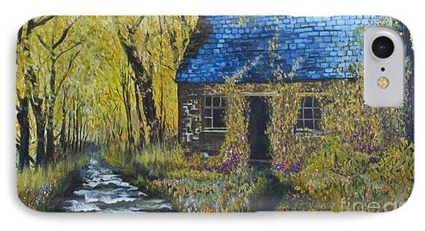 IPhone Case featuring the painting Susan's Cottage by Suzette Kallen