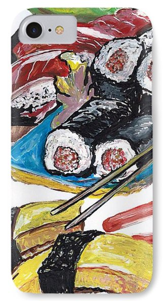 Sushi Bar Painting IPhone Case by Ecinja Art Works
