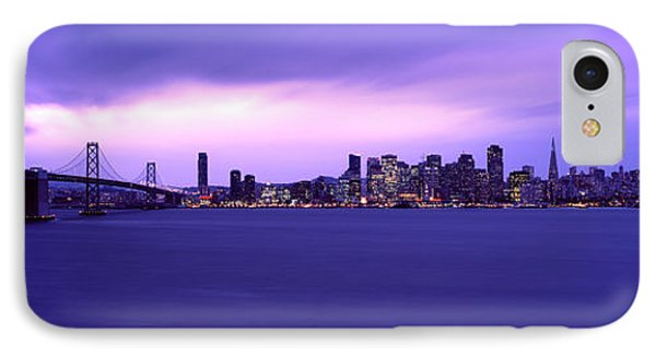 Suspension Bridge Across A Bay, Bay IPhone Case by Panoramic Images