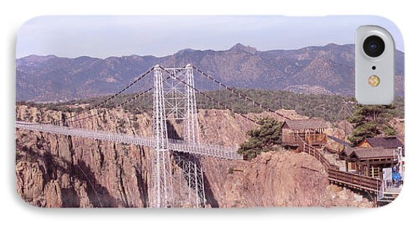 Suspension Bridge Across A Canyon IPhone Case by Panoramic Images