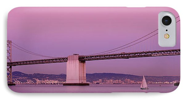 Suspension Bridge Over A Bay, Bay IPhone Case by Panoramic Images