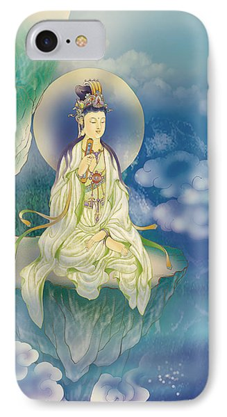 Sutra-holding Kuan Yin IPhone Case by Lanjee Chee