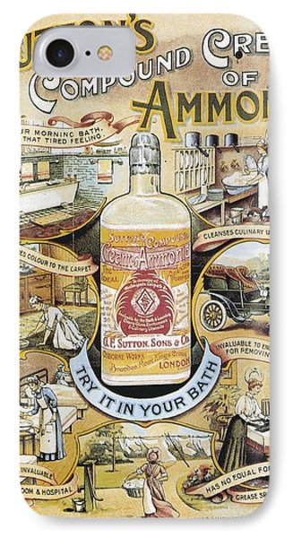 Sutton's Compound Cream Of Ammonia Vintage Ad IPhone Case by Gianfranco Weiss