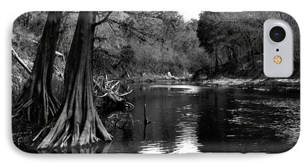 IPhone Case featuring the photograph Suwannee River Black And White by Donald Williams