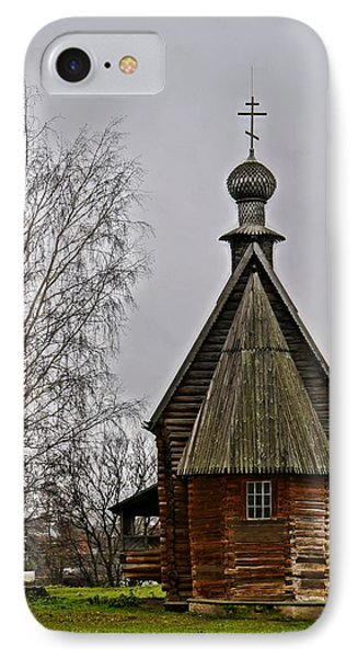 Suzdal Wooden Church IPhone Case by Julia Ivanovna Willhite
