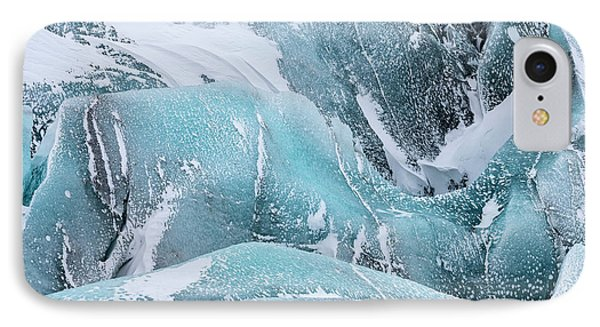 Svinafellsjoekull Glacier IPhone Case by Martin Zwick
