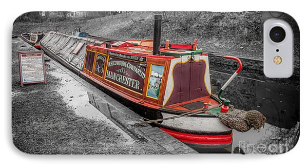 Swallow Canal Boat IPhone Case by Adrian Evans