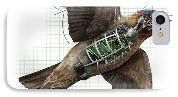 Swallow iPhone 7 Case - Swallow Drone Robotics by Nicolle R. Fuller