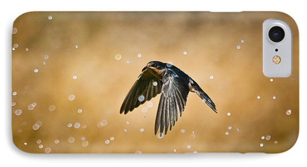 Swallow In Rain IPhone Case by Robert Frederick