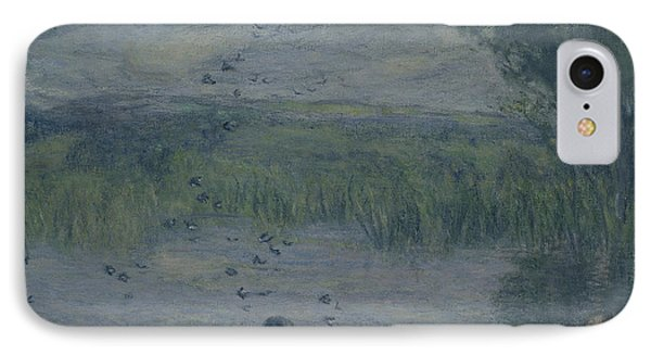 Swallow iPhone 7 Case - Swallows Oil On Canvas by Edmond-Francois Aman-Jean