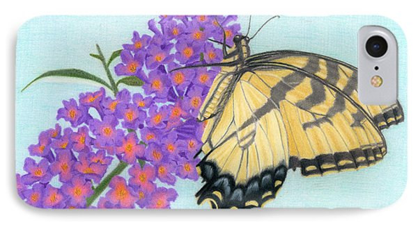 Swallowtail Butterfly And Butterfly Bush IPhone Case by Sarah Batalka