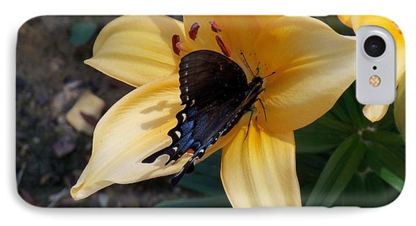 IPhone Case featuring the photograph Swallowtail On Asiatic Lily by Kathryn Meyer