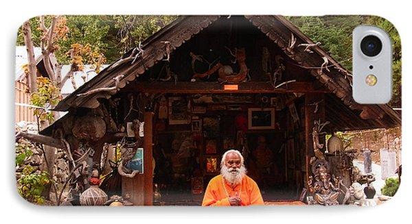 Swami Sundaranand At Tapovan Kutir 3 IPhone Case by Agnieszka Ledwon