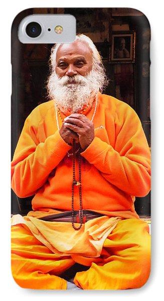 Swami Sundaranand At Tapovan Kutir 4 IPhone Case by Agnieszka Ledwon