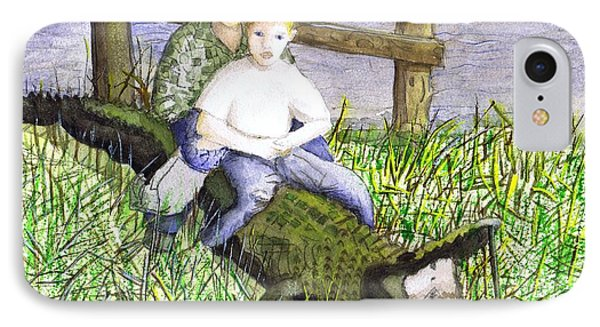 IPhone Case featuring the painting Swamp Boys by June Holwell