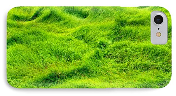 Swamp Grass Abstract IPhone Case by Gary Slawsky
