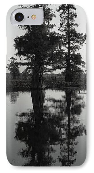 IPhone Case featuring the photograph Swamp Mirror by Silke Brubaker