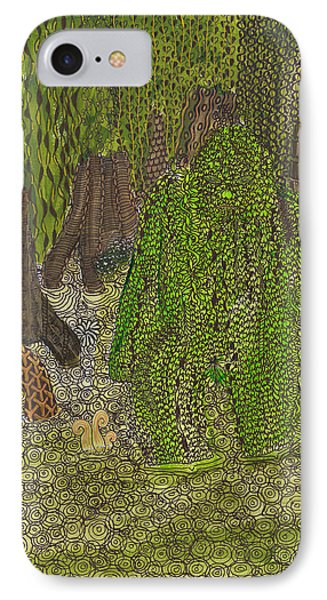 Swamp Monster IPhone Case by Rebecca Klingbeil