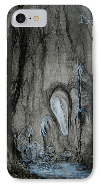 IPhone Case featuring the painting Swamp Shaman by Christophe Ennis