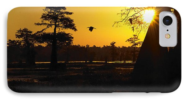 IPhone Case featuring the photograph Swamp Sunrise by Silke Brubaker