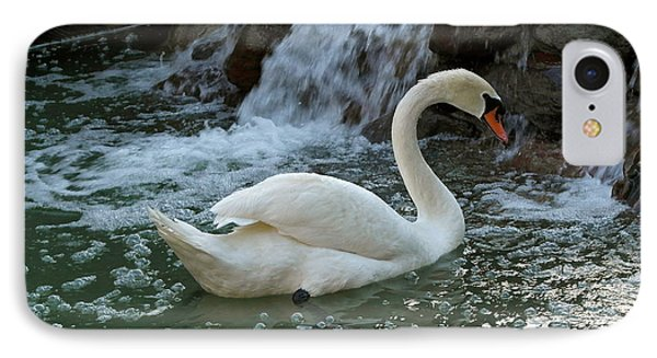 Swan A Swimming IPhone Case by Michele Myers