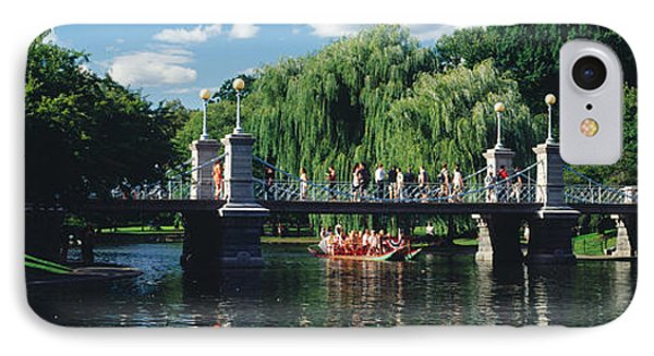 Swan Boat In The Pond At Boston Public IPhone Case by Panoramic Images