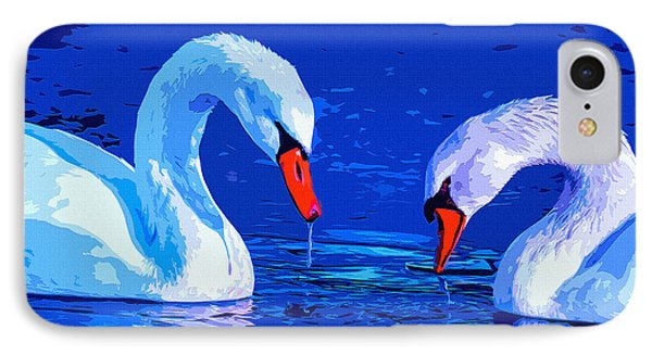 Swan Bond IPhone Case by Brian Stevens