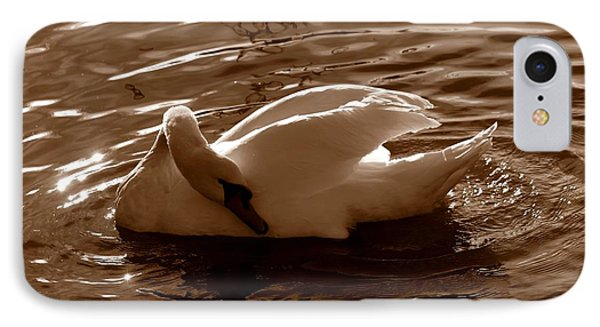 Swan By The Lake  IPhone Case