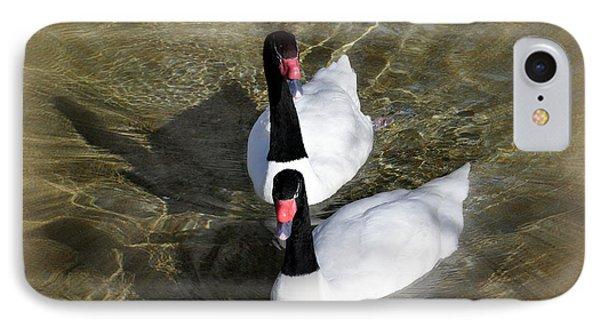 Swan Duo Phone Case by Marty Koch