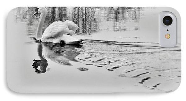 IPhone Case featuring the photograph Swan Elegance by Simona Ghidini