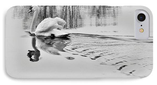 Swan Elegance IPhone Case by Simona Ghidini