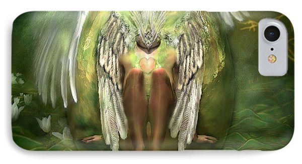 Swan Goddess IPhone Case by Carol Cavalaris