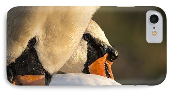 Swan Heads IPhone Case by Michael Mogensen