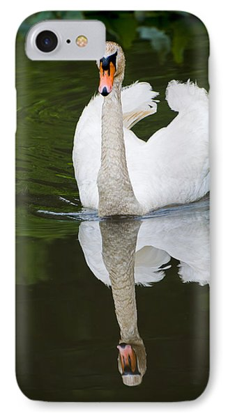 Swan In Motion IPhone Case by Gary Slawsky