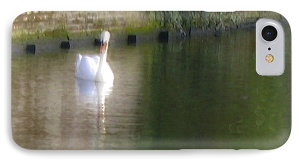 IPhone Case featuring the photograph Swan In The Canal by Victoria Harrington