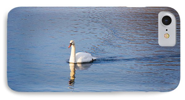Swan In The Lake IPhone Case by Gloria Pasko