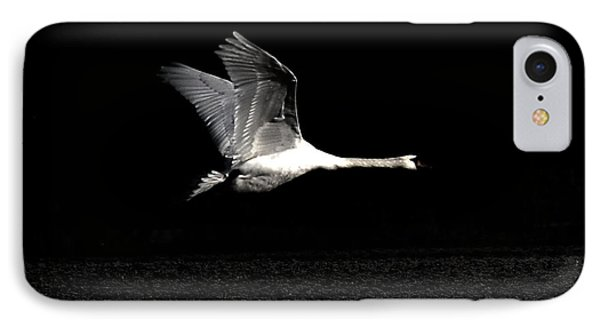 Swan In The Night IPhone Case