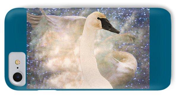 Swan Journey IPhone Case by Kathy Bassett